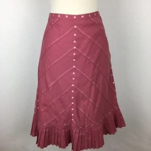 Odille Midi Skirt with Embroidery size 2
